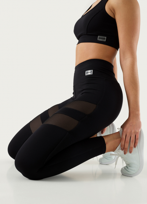 Leggings with Mesh Bands