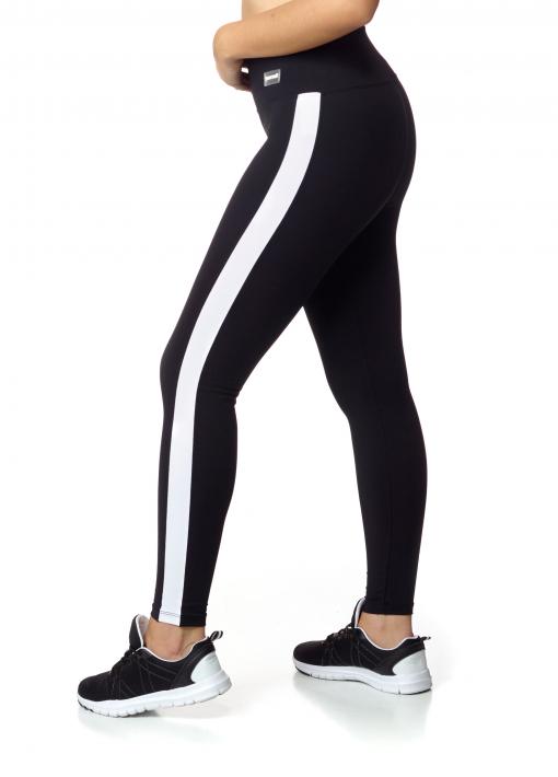 leggings con banda lateral